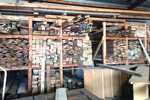 Timber salvage yard