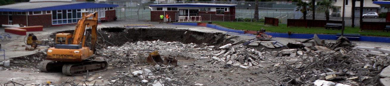 Demolishing a swimming pool